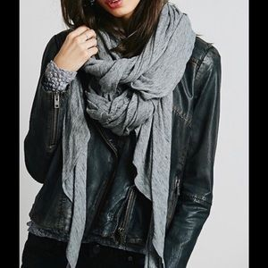 Free People Accessories - Free People Distressed Jersey Scarf Charcoal